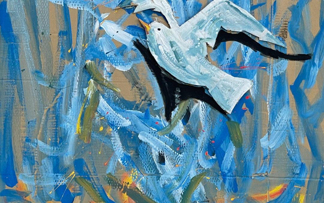 Was du brauchst ist Selbstvertrauen – Fensterausstellung Möwe Jonathan